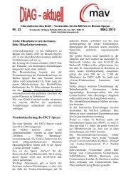 DiAG-aktuell Nr. 33 - März 2010 - auf den Seiten der DiAG Speyer