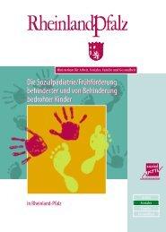 Broschuere Fruehfoerderung - Kinderrechte Rheinland-Pfalz