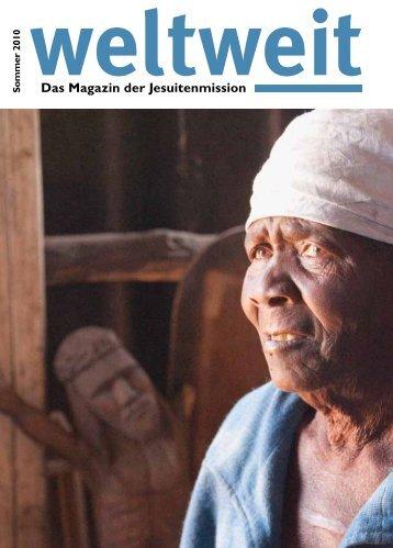 """""""weltweit"""" Sommer 2010 - Jesuitenmission"""