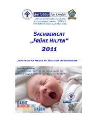 """Sachbericht """"Frühe Hilfen"""" - Deutscher Kinderschutzbund Landau"""