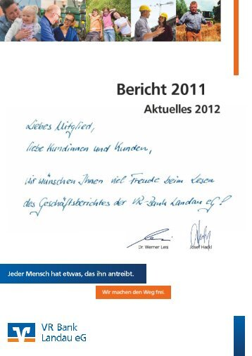 Geschäftsbericht 2011 (PDF / ca. 5,0 MB) - VR-Bank Landau eG
