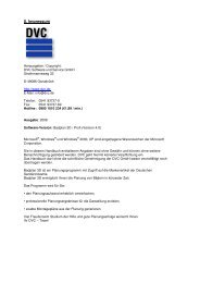 Handbuch Badplan 3D/PROFI 4.0 - DVC Software + Service GmbH