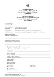 Veterinary certificate for the exportation of fresh pigmeat from the ...