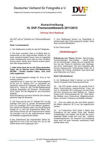 Ausschreibung 16. DVF-Themenwettbewerb 2011/2012 - Deutscher ...