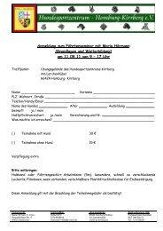 Anmeldung zum Fährtenseminar mit Maria ... - DVG LV Saarland