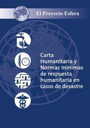 Carta Humanitaria y Normas mínimas de respuesta humanitaria en ...