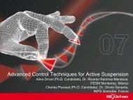 Advanced Control Techniques for Active Suspension - MSC Software