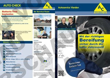 Bereifung - Autoservice Vierden Elmers + Kehn GbR