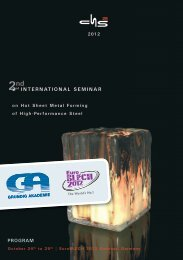2nd International Conference on Hot Sheet Metal Forming