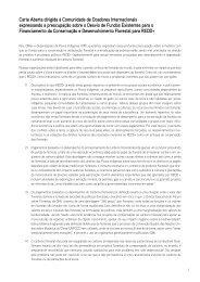 Carta Aberta dirigida à Comunidade de Doadores Internacionais ...
