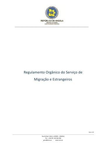 Regulamento Orgânico do Serviço de Migração e Estrangeiros