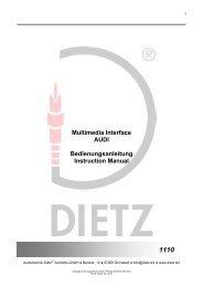 Multimedia Interface AUDI Bedienungsanleitung ... - Media-CarTec