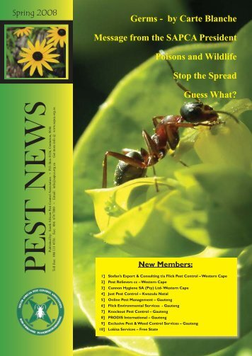 Germs - South African Pest Control Association