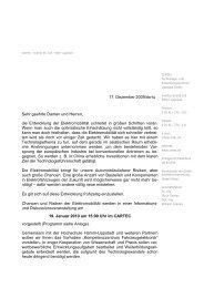 Anmeldung bitte per Fax an 02941/270-111 bis zum 8. Januar 2010 ...