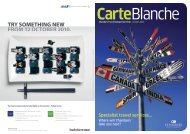 Carte Blanche - Chambers Travel Management