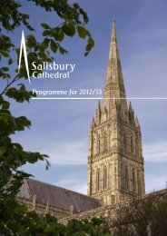 Programme for 2012/13 - Salisbury Cathedral