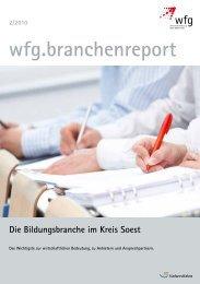 wfg.branchenreport 2/2010 Die Bildungsbranche im Kreis Soest