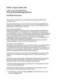 DVNLP - Kongress 2006 in Köln Liebe , Lust und Leidenschaft ...