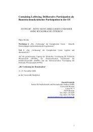 Deliberative Partizipation als Baustein demokratischer ... - DVPW