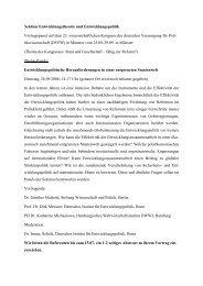 Sektion Entwicklungstheorie und Entwicklungspolitik ... -  DVPW