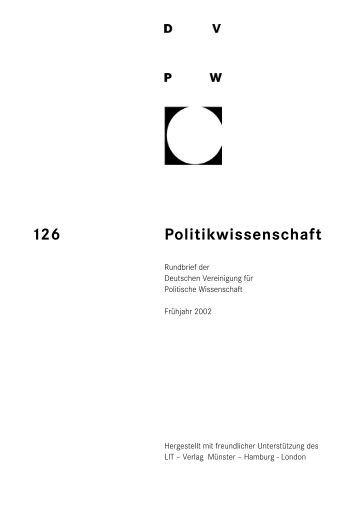 126 Politikwissenschaft - DVPW