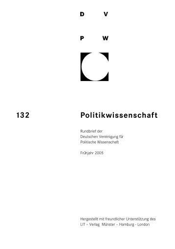 Politikwissenschaft 132 - DVPW