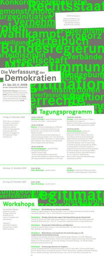 Verfassung der Demokratien - DVPW