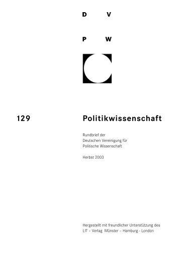 129 Politikwissenschaft - DVPW