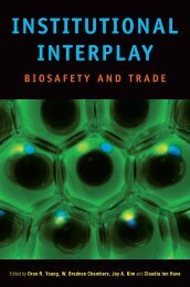Institutional interplay: Biosafety and trade - United Nations University