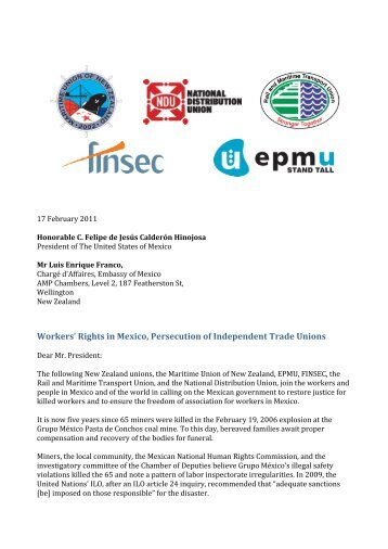 Workers' Rights in Mexico, Persecution of Independent Trade Unions