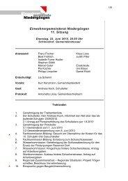 gemeinderatprotokoll.. - Gemeinde Niedergösgen