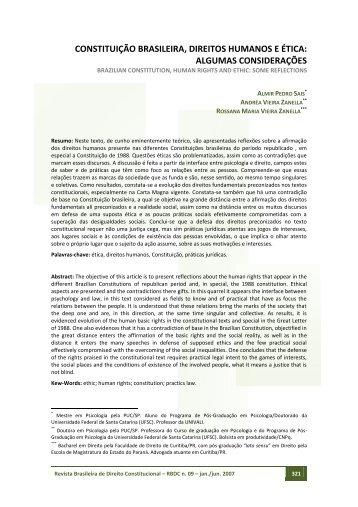 Constituição Brasileira, Direitos Humanos e Ética - MiniWeb Cursos