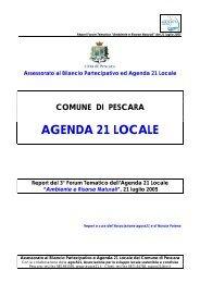 AGENDA 21 LOCALE - Comune di Pescara