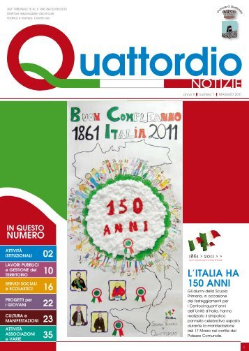 Notiziario nr. 1 - 2011 - Comune di Quattordio