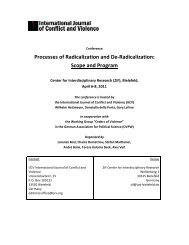 Processes of Radicalization and De-Radicalization: Scope ... - DVPW