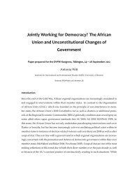 The African Union and Unconstitutional Changes of ... - DVPW