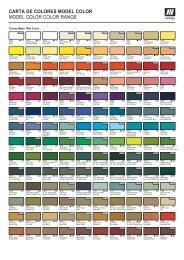 carta de colores model color - Acrylicos Vallejo
