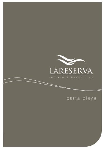 carta playa - La Reserva