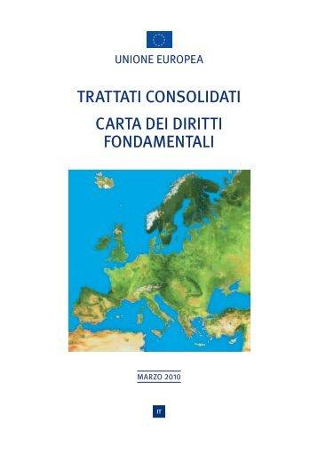 trattati consolidati carta dei diritti fondamentali - Europa