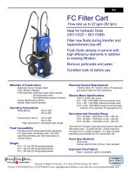 FC Filter Cart - Precision Filtration Products