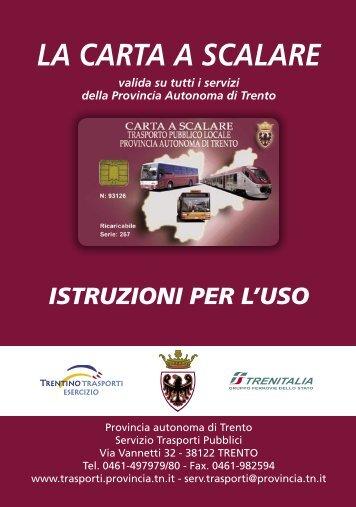 la carta a Scalare - Trentino Trasporti