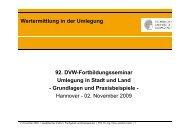 Wertermittlung in der Umlegung 92. DVW-Fortbildungsseminar ...