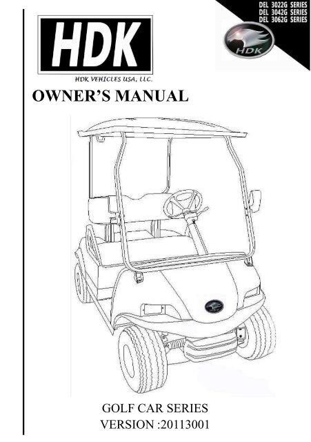 owner\u0027s manual golf cart series hdk electric vehicles Golf Cart Transformer