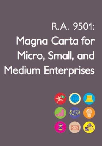 Guide to the Magna Carta for Micro, Small and Medium ... - DTI