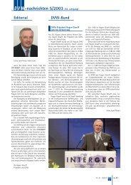 nachrichten 5/2003 - Deutscher Verein für Vermessungswesen eV