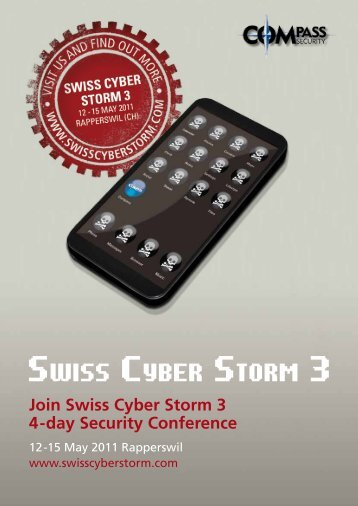 SwiSS Cyber Storm 3 - Hacking-Lab.com