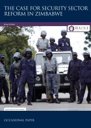 THE CASE FOR SECURITY SECTOR REFORM IN ZIMBABWE - RUSI