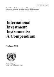international investment instruments: a compendium ... - Unctad