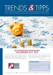 Die steuerlichen MassnahMen zuM sparpaket 2012 - 2016 - PZP