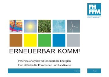 Forschungsprojekt Erneuerbar Komm! - DVW